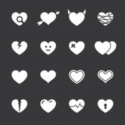 Heart Icons - White Series