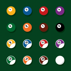 Pool Balls Icons - Color Series