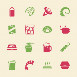 Food and Drink Icons Set 4 - Color Series
