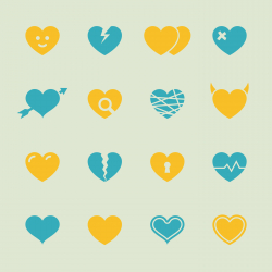 Heart Icons - Color Series