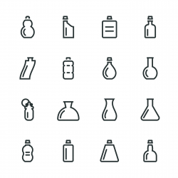 Bottle Silhouette Icons | Set 4