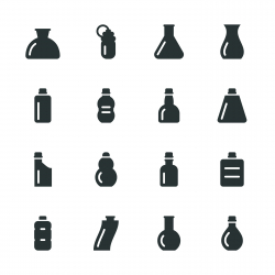 Bottles Silhouette Icons | Set 3