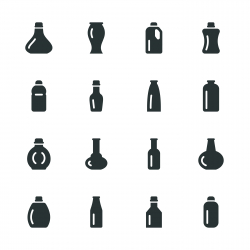 Bottles Silhouette Icons | Set 4