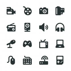 Media Silhouette Icons