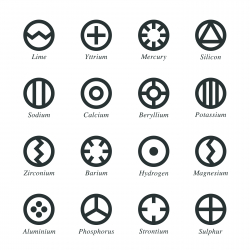 Chemical Element Silhouette Icons | Set 3