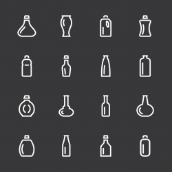 Bottle Icons Set 3 - White Series