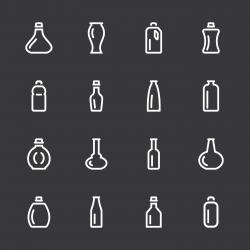 Bottle Icons Set 3 - White Series