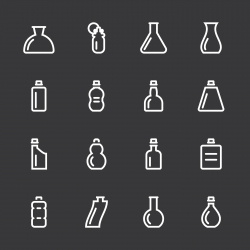 Bottle Icons Set 4 - White Series