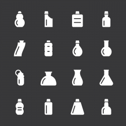 Bottles Icons Set 3 - White Series