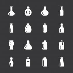 Bottles Icons Set 4 - White Series