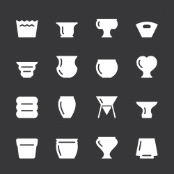 Pot Icons - White Series