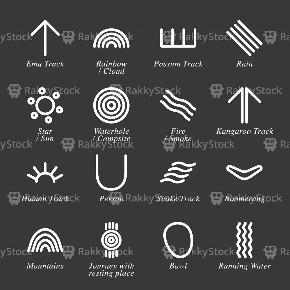 Australian Aboriginal Art Icons - White Series