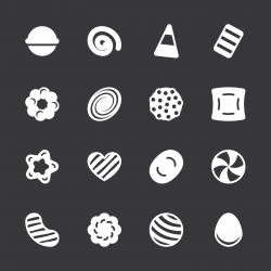 Candy Icons Set 2 - White Series