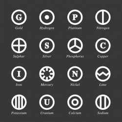 Chemical Element Icons Set 2 - White Series