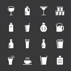 Beverage Icons Set 2 - White Series