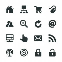 Internet and web Silhouette Icons | Set 1