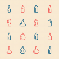 Bottle Icons Set 3 - Color Series