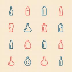 Bottle Icons Set 3 - Color Series