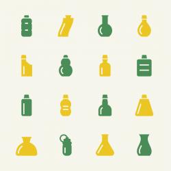 Bottles Icons Set 3 - Color Series