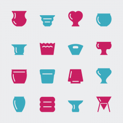 Pot Icons - Color Series