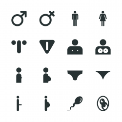 Sex Sign Silhouette Icons