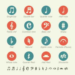 Musical Note Icons - Color Series