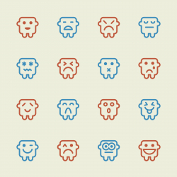 Emoticons Set 11 - Color Series