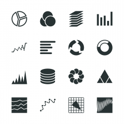 Chart and Graph Silhouette Icons