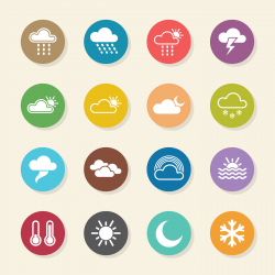 Weather Icons - Color Circle Series