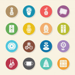 Loudspeaker Design Icons - Color Circle Series