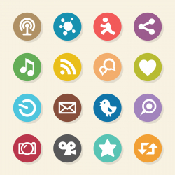 Social Media Icons - Color Circle Series