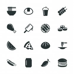 Lunch Silhouette Icons