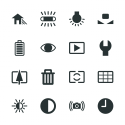 Camera Menu Silhouette Icons | Set 2