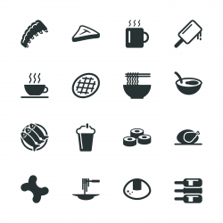 Food and Drink Silhouette Icons | Set 2
