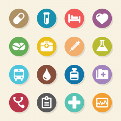 Medical Sign Icons - Color Circle Series