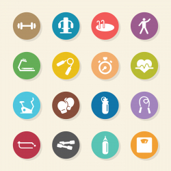 Fitness Icons - Color Circle Series
