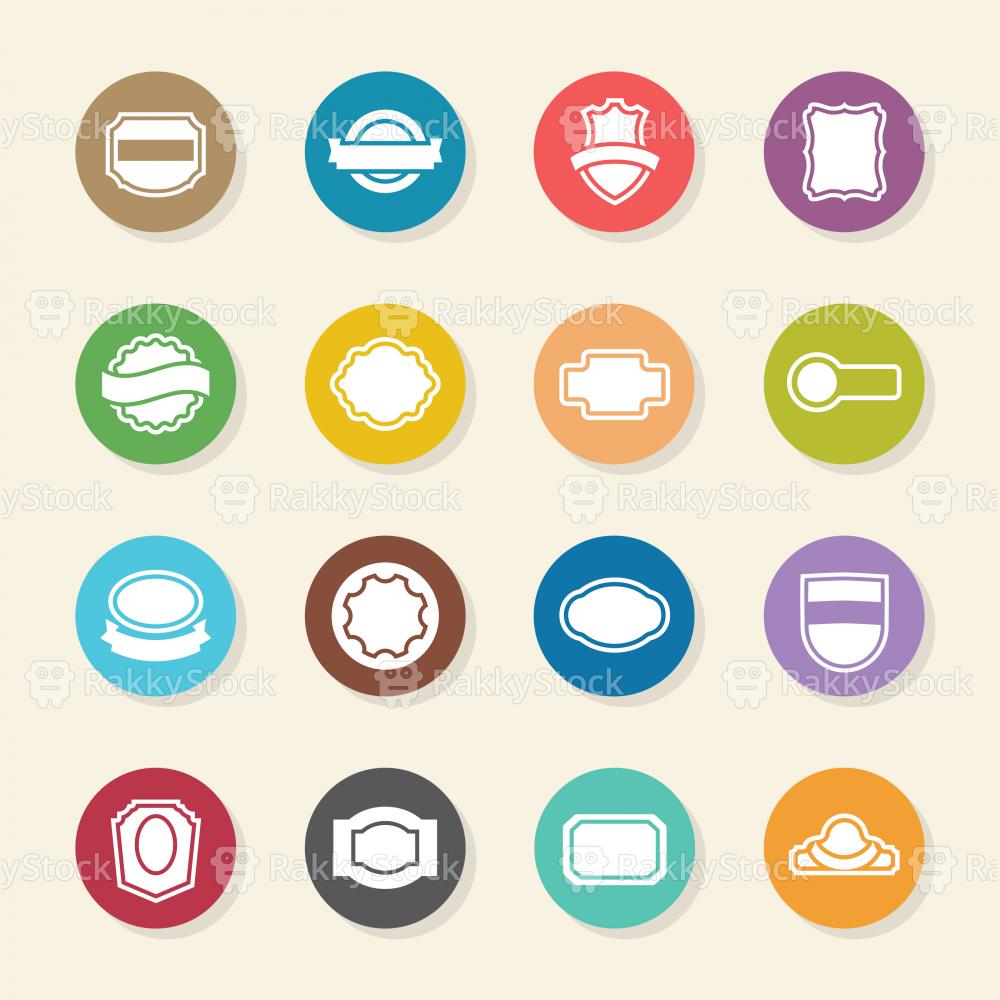 Label Icons Set 2 - Color Circle Series