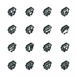 Silhouette Emoticons | Set 5