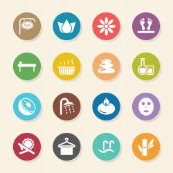 Spa Icons - Color Circle Series