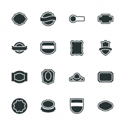 Label Silhouette Icons | Set 2