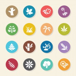 Plant Icons - Color Circle Series