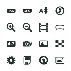 Camera Menu Silhouette Icons | Set 3