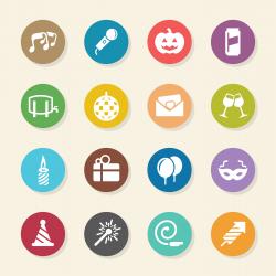 Celebration Icons - Color Circle Series