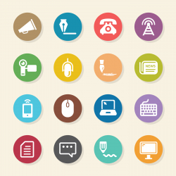 Communication Icons Set 2 - Color Circle Series