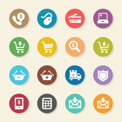 E-commerce Icons - Color Circle Series