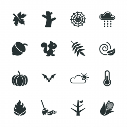 Autumn Season Silhouette Icons