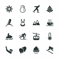 Winter Season Silhouette Icons