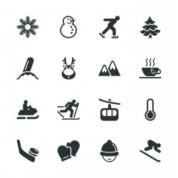 Winter Season Silhouette Icons