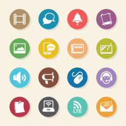 Communication Icons Set 3 - Color Circle Series