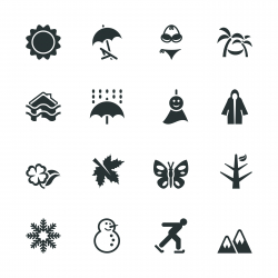 All Season Silhouette Icons | Set 1